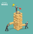 business war flat isometric concept vector image vector image