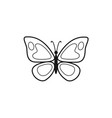 butterfly outline icon vector image vector image