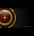 casino roulette wheel isolated on dark background vector image