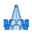 cinema hall line icon vector image vector image