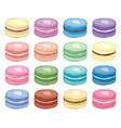 collection colorful french macarons vector image vector image