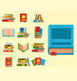 colorful book learn literature vector image vector image
