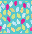 colorful textured easter eggs on turquoise vector image vector image