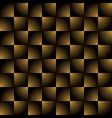 creative square golden black gradient pattern vector image vector image