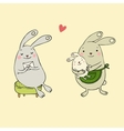 Cute bunnies Letter and baby vector image vector image