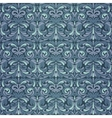 Dark blue baroque pattern vector image vector image