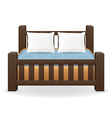 double bed 01 vector image