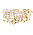 elegant gold fall leaves pattern vector image