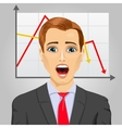 emotional crying businessman in economic crisis vector image vector image