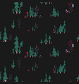 fairy night seamless pattern fairy forest vector image vector image