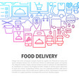 food delivery line concept vector image