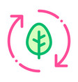 forest leaves tree arrows thin line icon vector image