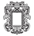 german mirror-frame is mirror surrounded by vector image vector image