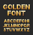 golden metallic font set vector image vector image