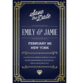 Great Quality Style Invitation in Art Deco or vector image vector image