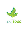 green leaf logo template healthy fresh leaf vector image vector image