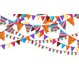 greeting card with garland flags vector image vector image