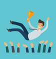 group business people or team tossing in the vector image vector image