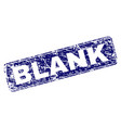 grunge blank framed rounded rectangle stamp vector image vector image