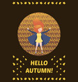 hello autumn colorful story vector image