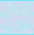 hologram wireframe wave pattern vector image vector image