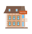 hotel flat icon vector image vector image