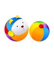 icon beachball vector image vector image