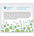 Invitation card with abstractions vector image