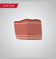 isolated meat flat icon beef element can vector image