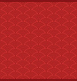 japanese red seamless wave pattern traditional vector image vector image