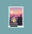landscape view city skyline buildings from high vector image vector image