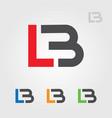 lb l b letters logo brand vector image vector image
