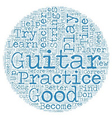 Learn to Play Guitar Free Tips for Beginner Guitar vector image vector image