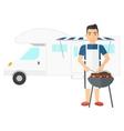 Man preparing barbecue vector image vector image