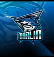 marlin esport mascot logo design vector image