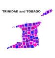 mosaic trinidad and tobago map of square elements vector image vector image