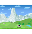 mountain landscape and pasture vector image vector image