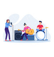 musicians play musical instruments vector image
