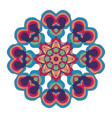 naive art childish mandala in bright colors vector image vector image