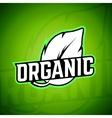 Organic logo Background vector image