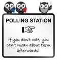 Polling Station Sign vector image vector image