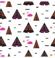 scandinavian black teepee seamless pattern vector image vector image