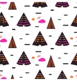 Scandinavian style black teepee seamless pattern vector image vector image