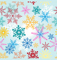 seamless christmas pattern with multicolored vector image