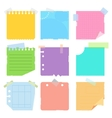 set of colored pieces paper vector image vector image