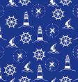 Set of sea and nautical seamless patterns vector image vector image