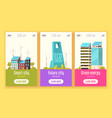 smart city vertical banners vector image vector image