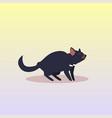 tasmanian devil icon cartoon endangered wild vector image vector image