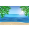 The sea palm trees and tropical beach under blue vector image vector image