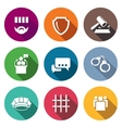 The verdict of the court and detention Icons Set vector image vector image